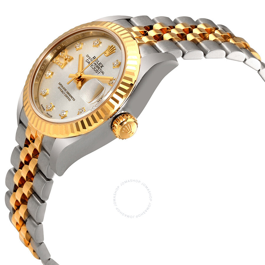 Lady-Datejust Silver Diamond Dial Automatic Ladies Watch 279173SDRJ