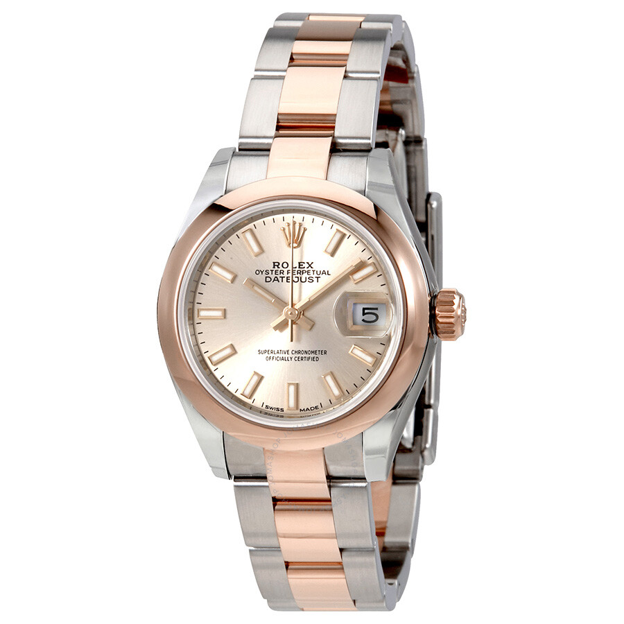 Rolex Lady Datejust Sundust Dial Steel and 18K Everose Gold Ladies Watch 279161SNSO ...