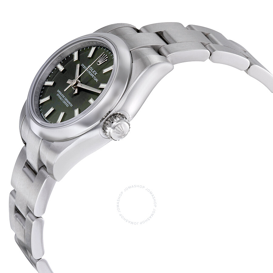b53f47fcee7 ... Rolex Lady Oyster Perpetual 26 Olive Green Dial Stainless Steel Oyster Bracelet  Automatic Watch 176200OVSO ...