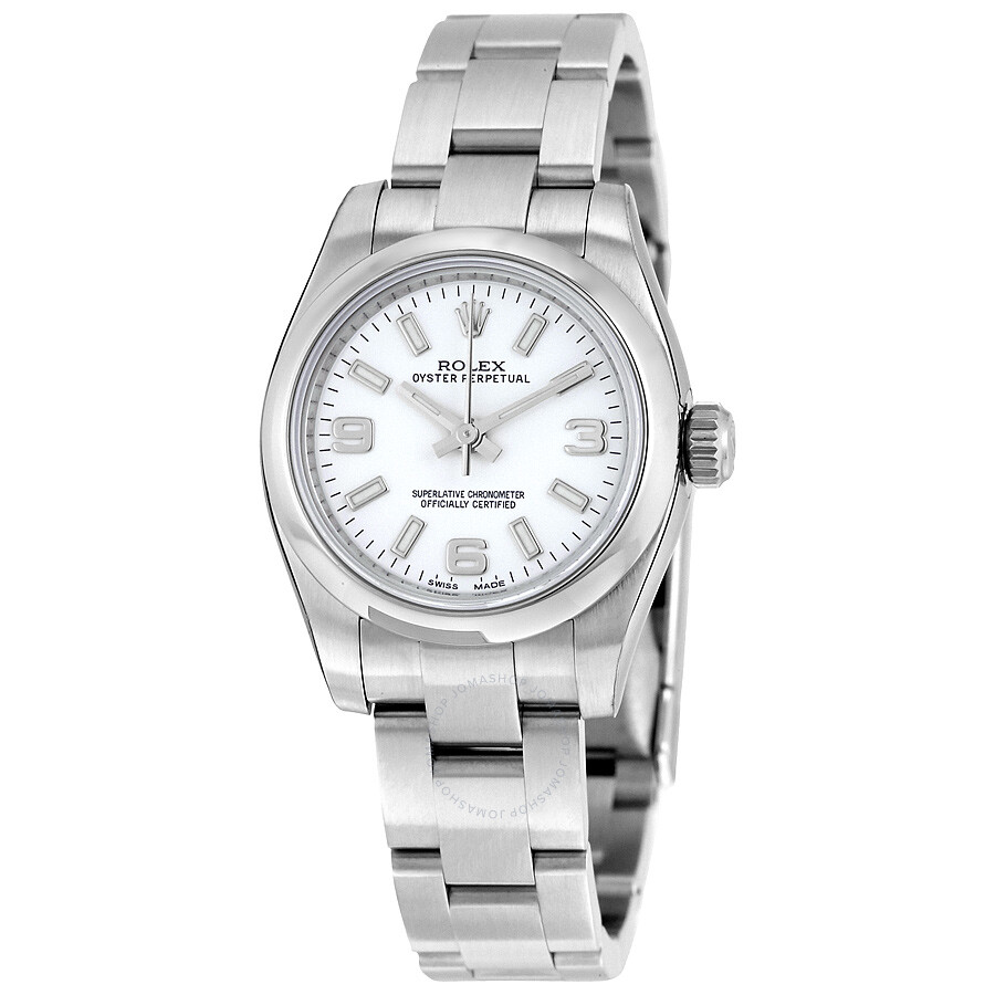 rolex white index dial stainless steel oyster bracelet automatic ladies watch 176200waso lady. Black Bedroom Furniture Sets. Home Design Ideas