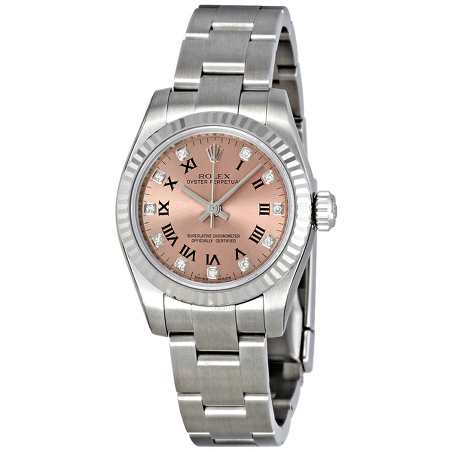Rolex Lady Oyster Perpetual Pink Dial Stainless Steel Automatic