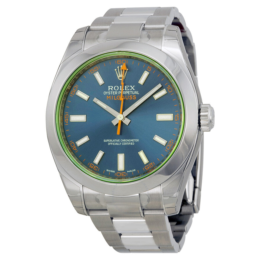 Rolex Milgauss Automatic Blue Dial Stainless Steel Men\u0027s Watch 116400GV