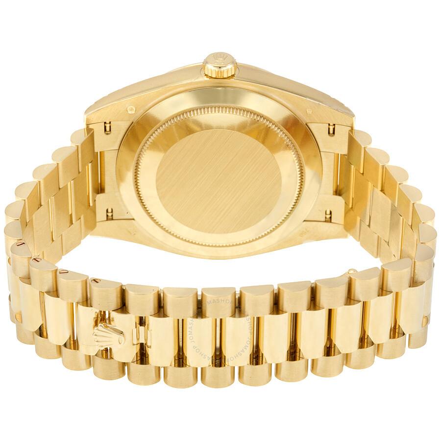 Rolex Oyster Perpetual 18k Yellow Gold Diamond Men S Automatic President Watch 228238bkdp