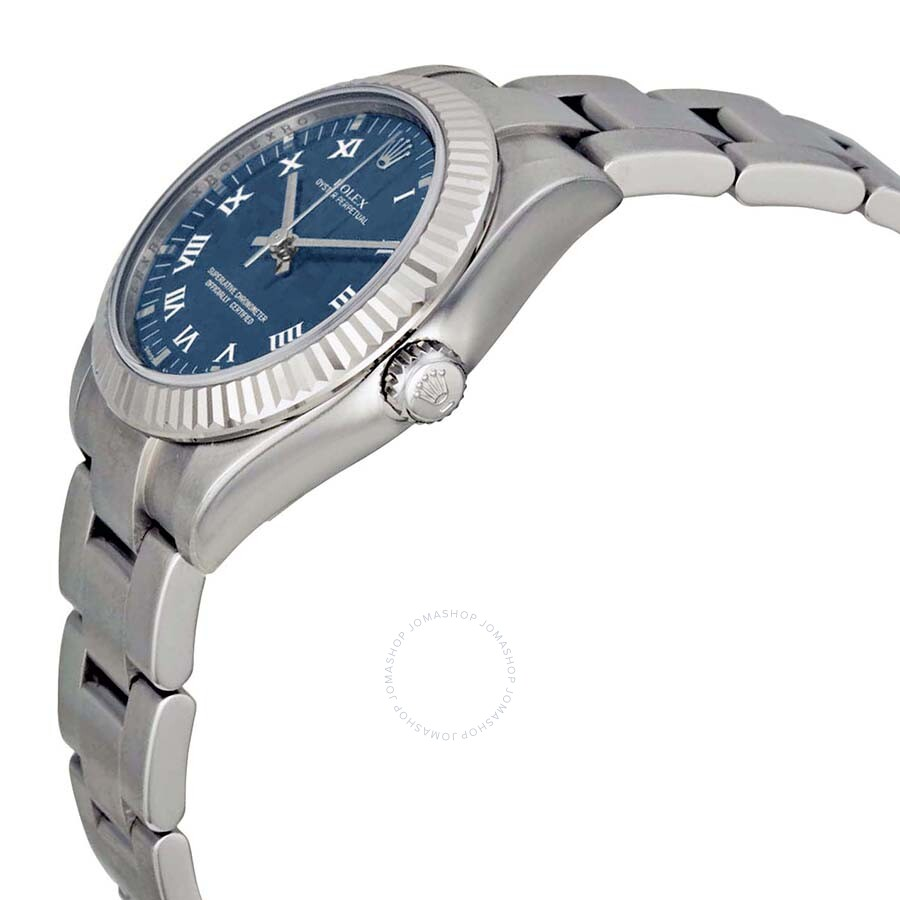 Rolex Oyster Perpetual 31 Mm Blue Dial Stainless Steel Bracelet