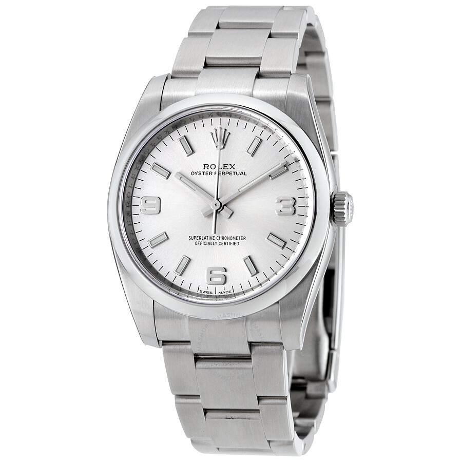 rolex oyster perpetual 34 silver dial stainless steel rolex oyster rolex oyster perpetual 34 silver dial stainless steel rolex oyster automatic men s watch 114200saso