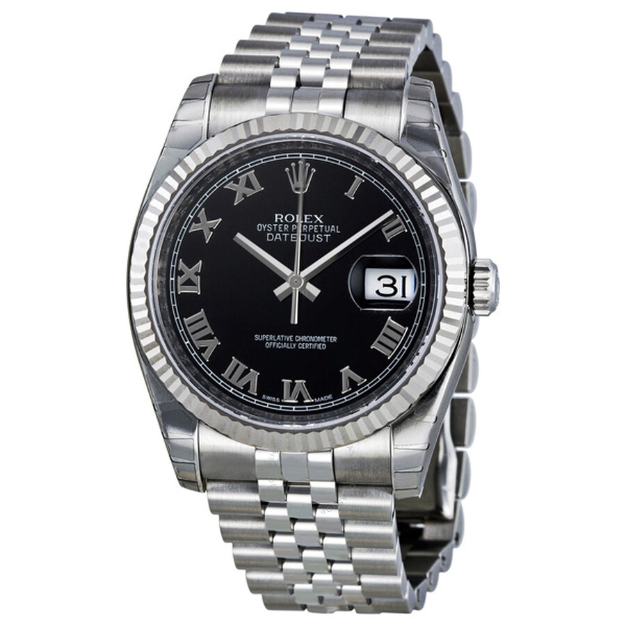 f335c1965233 Rolex Oyster Perpetual 36 mm Black Dial Stainless Steel Jubilee Bracelet  Automatic Men s Watch 116234BKRJ ...
