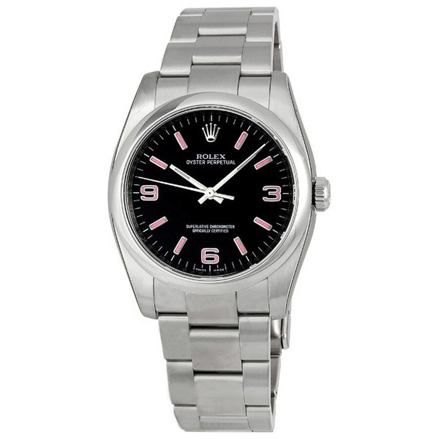 Rolex Oyster Perpetual 36 mm Black Dial Stainless Steel Bracelet Automatic  Men s Watch 116000BKAPSO ... 62349bb9e6e8