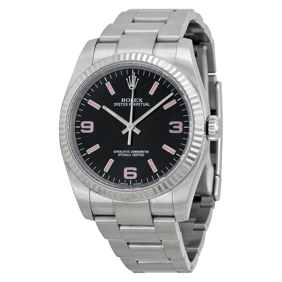 Rolex Oyster Perpetual 36 Mm Black Dial Stainless Steel Bracelet Automatic Men S Watch 116034bkapso