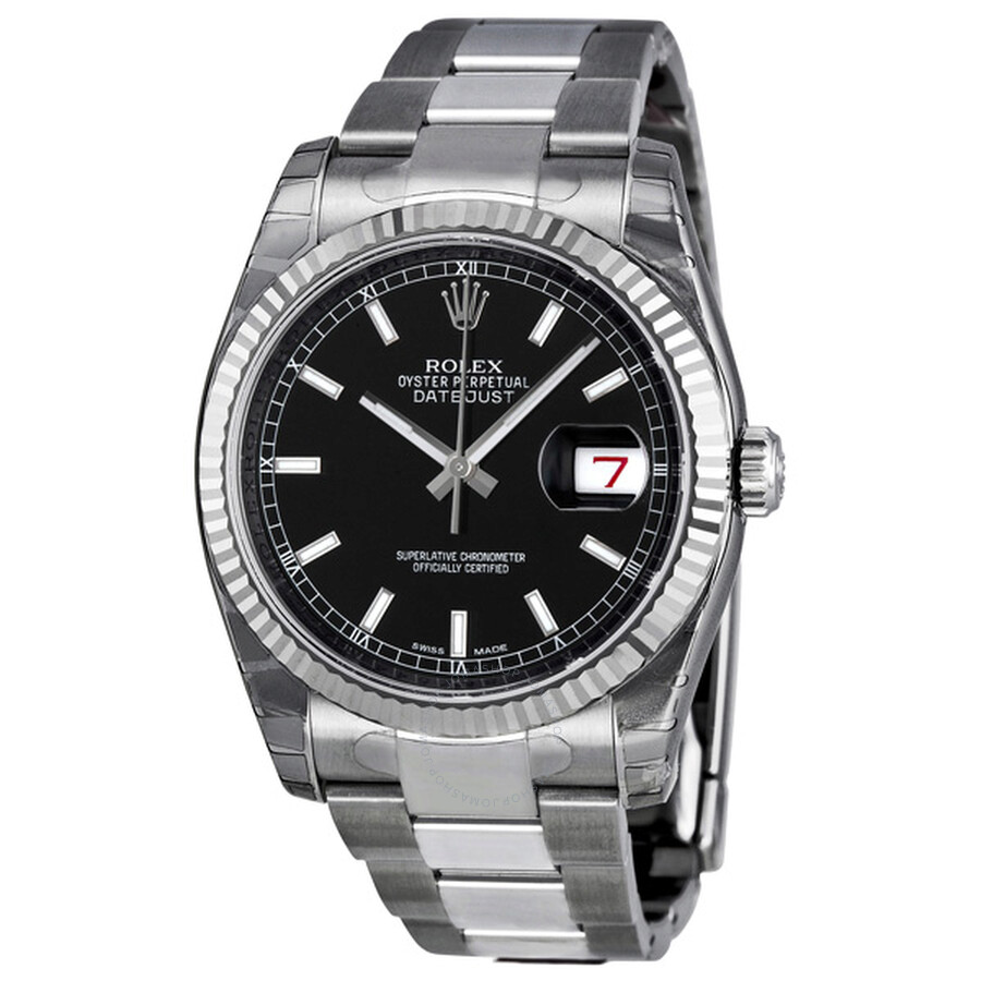4b765d3be94dc Rolex Oyster Perpetual 36 mm Black Dial Stainless Steel Bracelet Automatic  Men s Watch 116234BKSO ...