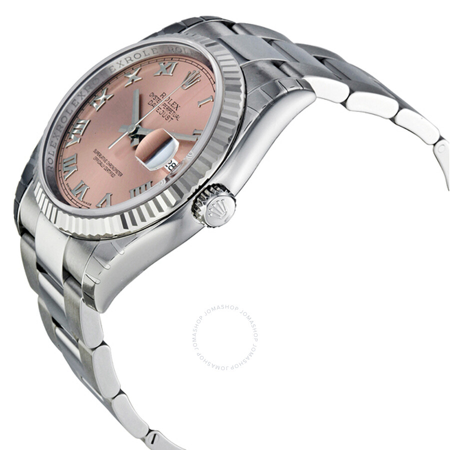 ... Rolex Oyster Perpetual 36 mm Pink Dial Stainless Steel Bracelet Automatic Men's Watch 116234PRO ...