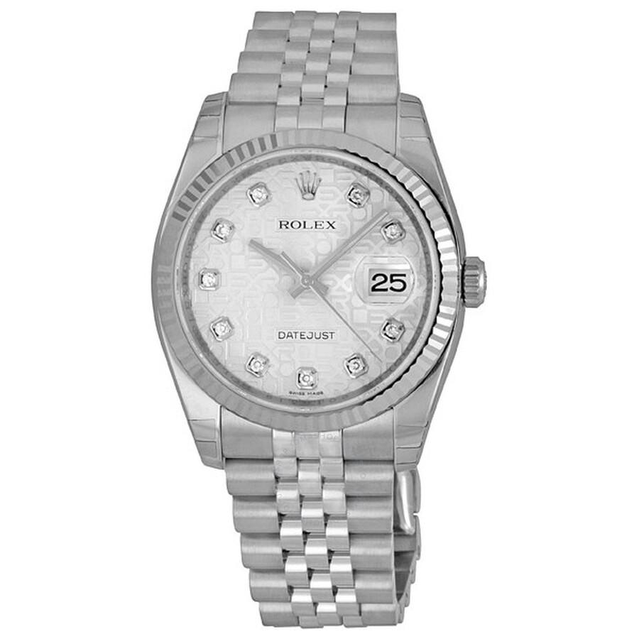 17a48d682cd0 Rolex Oyster Perpetual 36 mm Silver Dial Stainless Steel Jubilee Bracelet  Automatic Men s Watch 116234SJDJ ...