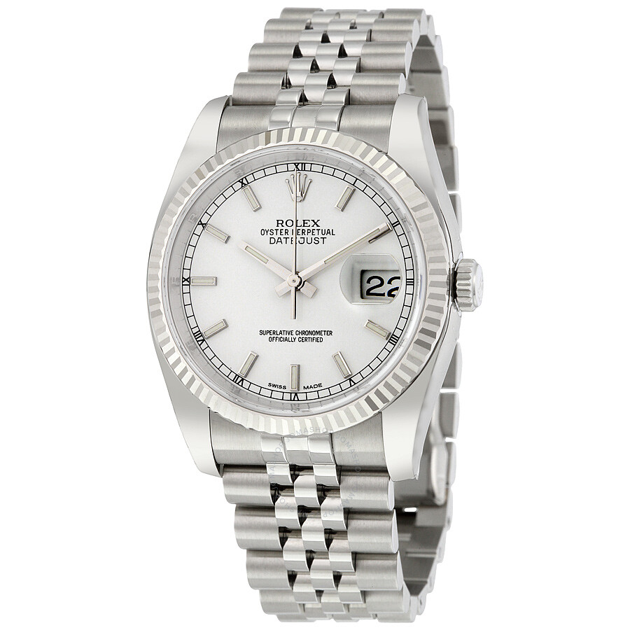 e84ee7305a7c Rolex Oyster Perpetual 36 mm White Dial Stainless Steel Jubilee Bracelet  Automatic Men s Watch 116234WSJ ...