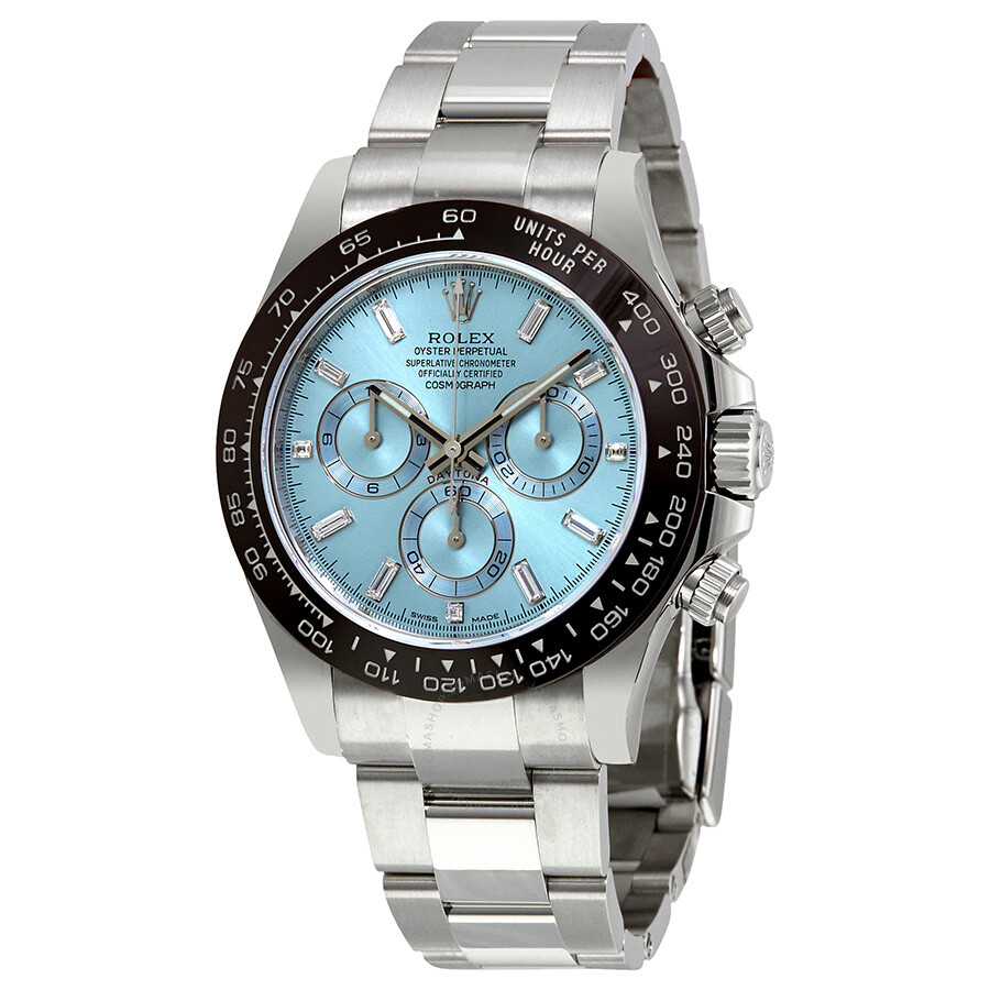 Rolex oyster perpetual cosmograph daytona ice blue dial automatic men 39 s chronograph watch 116506 for Rolex cosmograph daytona