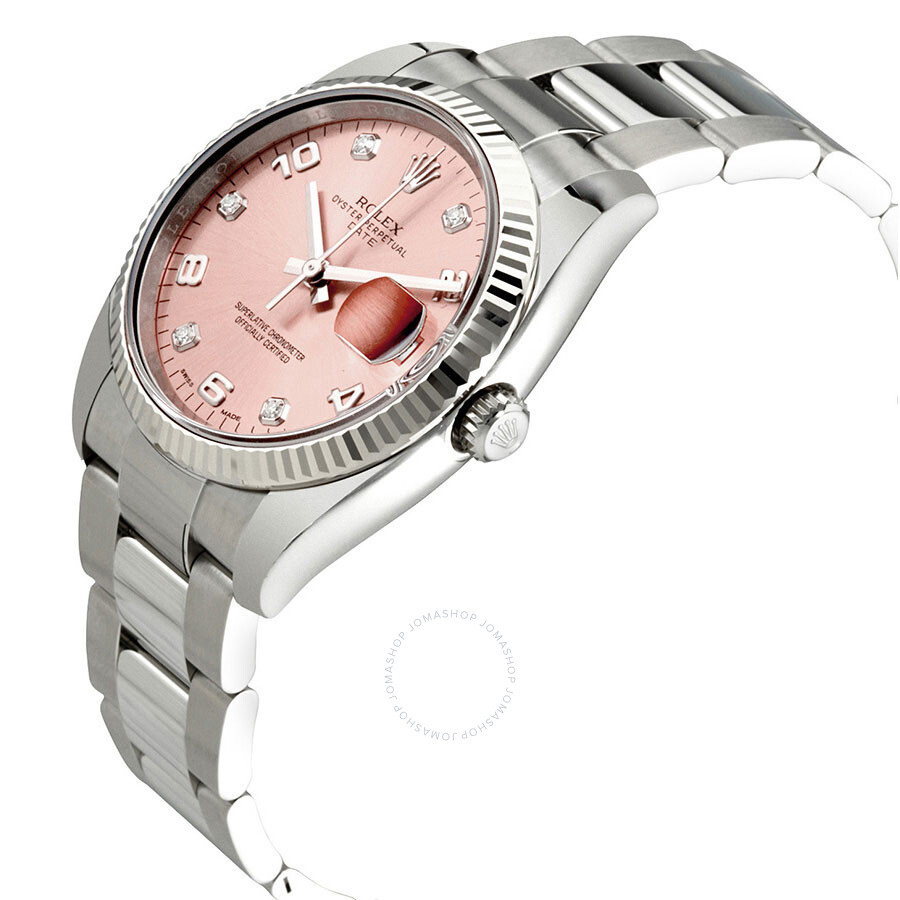 ee8146d0da07 ... Rolex Oyster Perpetual Date 34 Pink Dial Stainless Steel Bracelet  Automatic Men s Watch 115234PADO ...