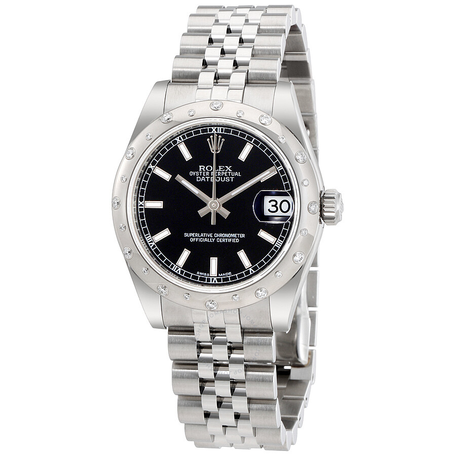 rolex oyster perpetual datejust 31 black dial stainless steel rolex jubilee automatic ladies. Black Bedroom Furniture Sets. Home Design Ideas