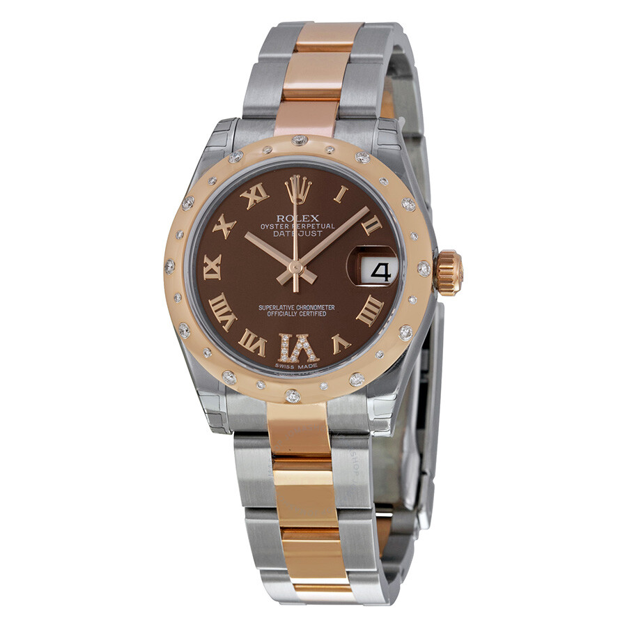 rolex oyster perpetual datejust 31 chocolate dial. Black Bedroom Furniture Sets. Home Design Ideas