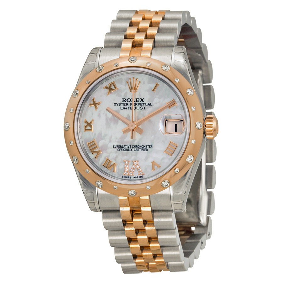 Rolex Oyster Perpetual Datejust 31 Mother of Pearl Dial Stainless Steel and  18K Everose Gold Jubilee ... 2aeced5e2ab8
