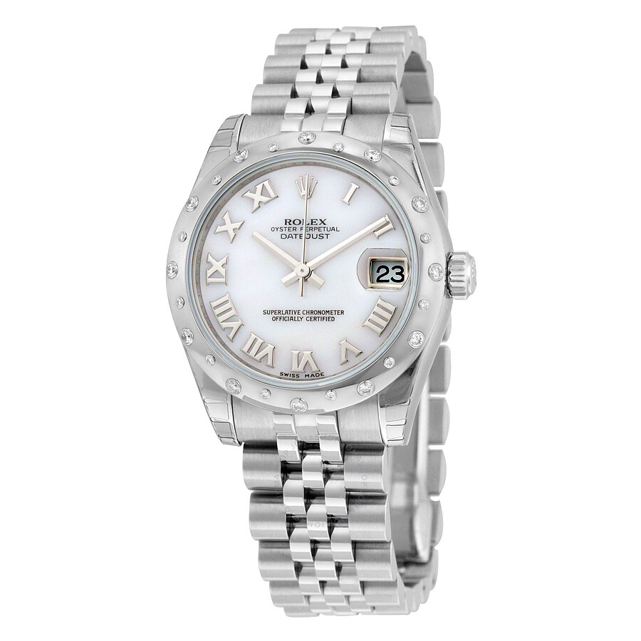Rolex Oyster Perpetual Datejust 31 Mother Of Pearl Dial Stainless Steel Jubilee Bracelet Automatic Las Watch