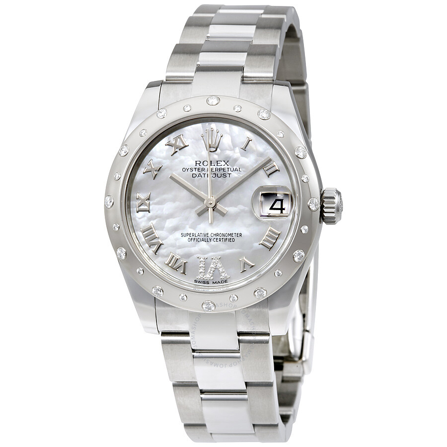 Rolex Oyster Perpetual Datejust 31 Mother Of Pearl Dial Stainless