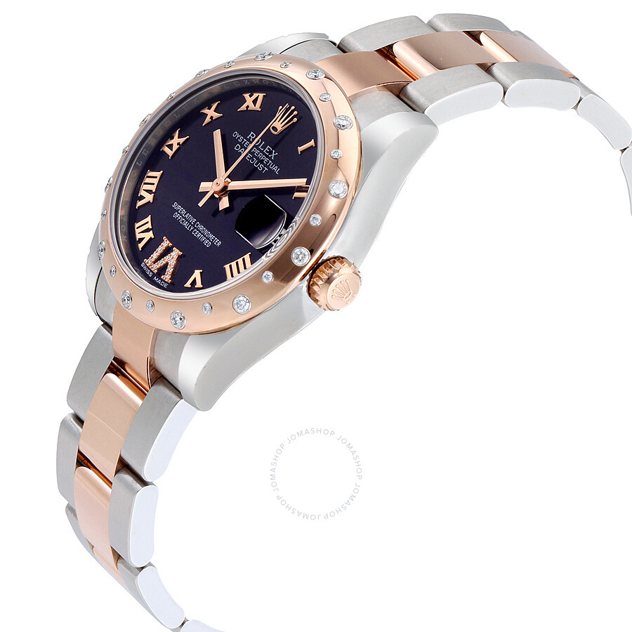 Rolex Oyster Perpetual Datejust 31 Purple Dial Stainless Steel And