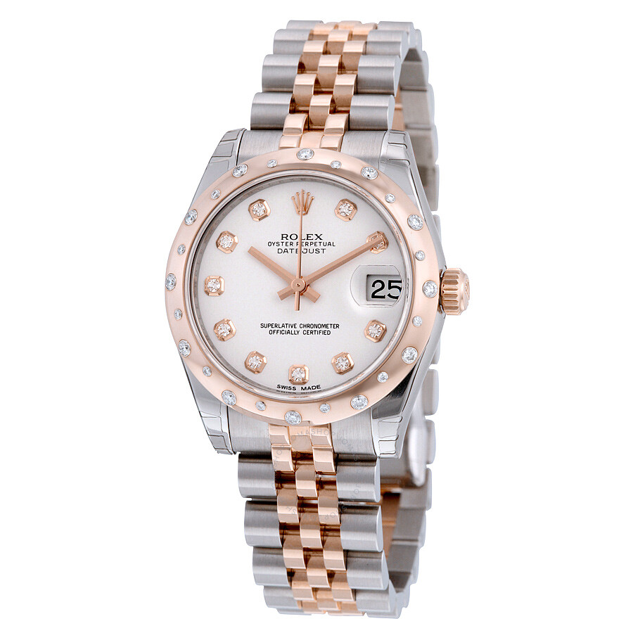 b1eebd1666e Rolex Oyster Perpetual Datejust 31 White Dial Stainless Steel and 18K  Everose Gold Jubilee Bracelet Automatic ...