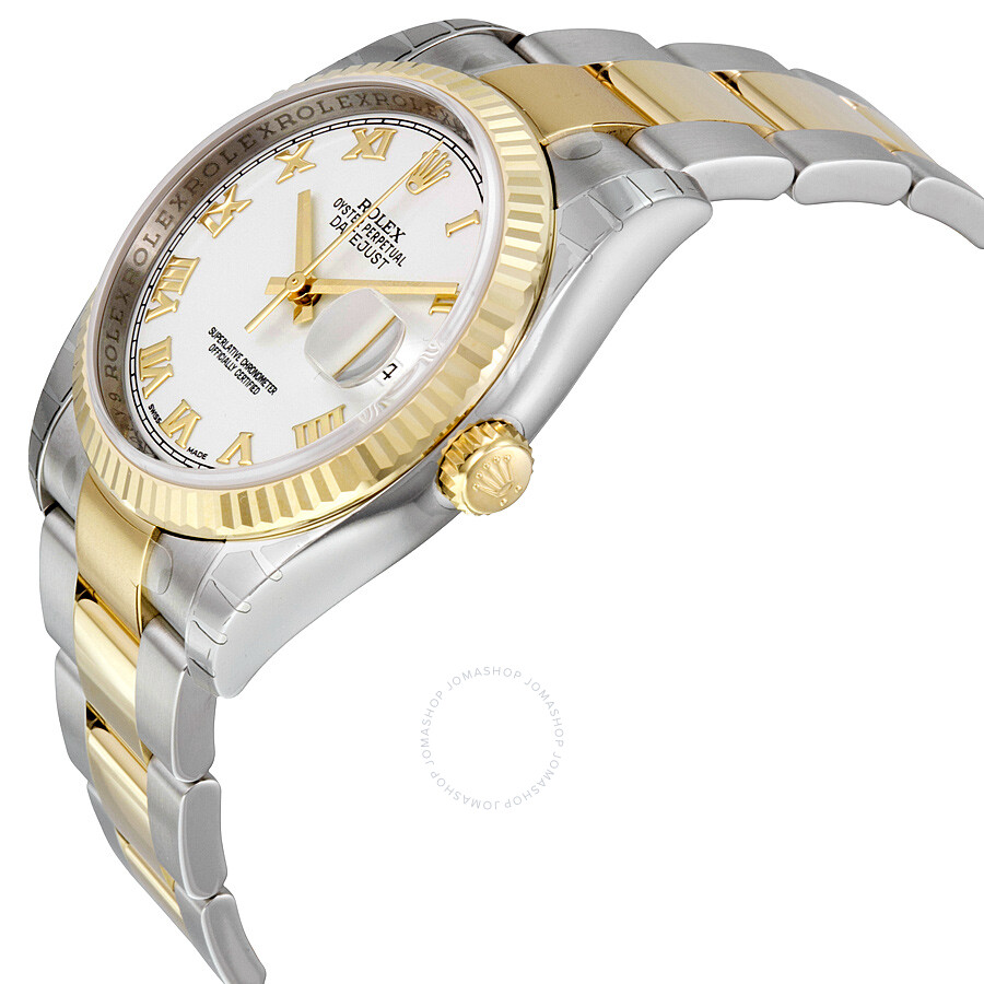 Rolex Oyster Perpetual Datejust 36 Automatic White Dial Stainless