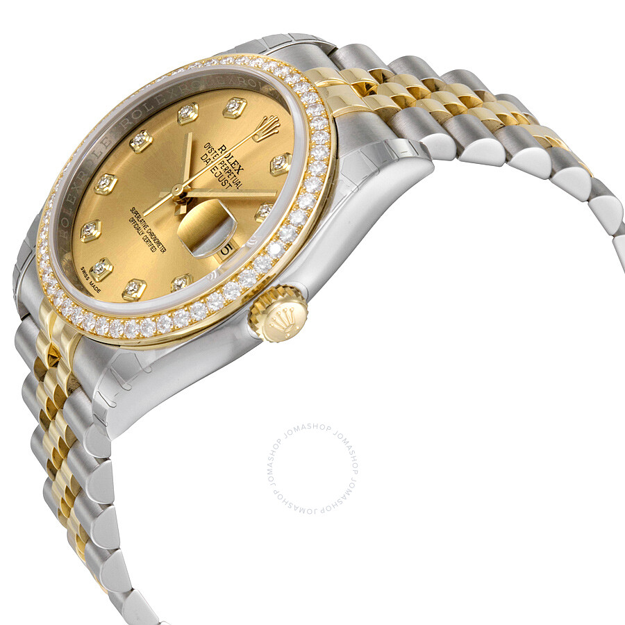 3251d958de8 ... Rolex Oyster Perpetual Datejust 36 Champagne Dial Stainless Steel and 18K  Yellow Gold Jubilee Bracelet Automatic ...