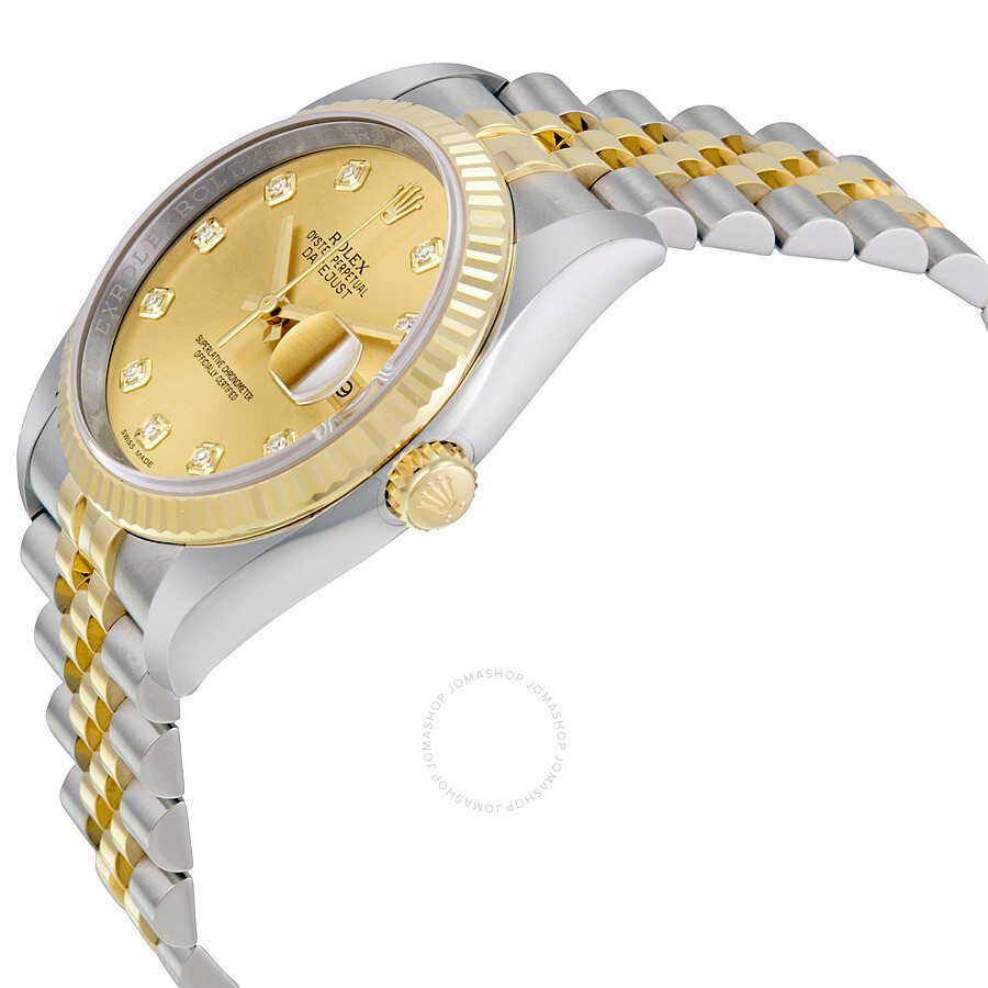 b48026b58ec ... Rolex Oyster Perpetual Datejust 36 Champagne Dial Stainless Steel and  18K Yellow Gold Jubilee Bracelet Automatic ...