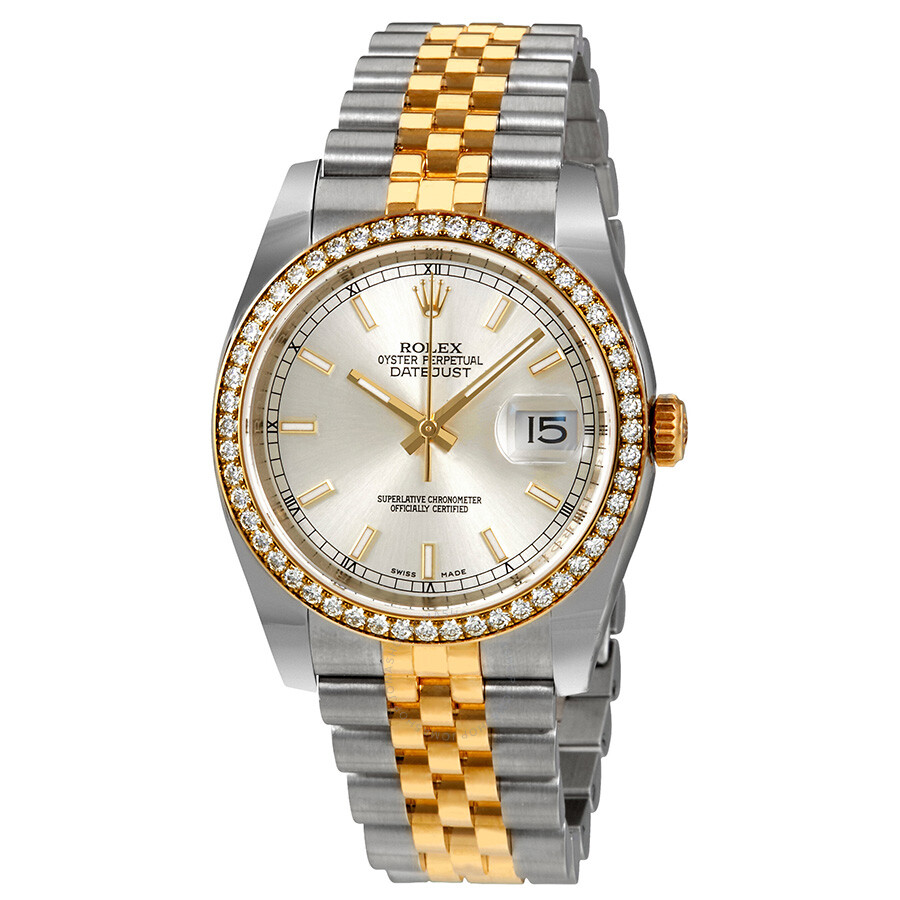 Oyster Perpetual Datejust 36 Silver Dial Stainless Steel and 18K Yellow Gold Jubilee Bracelet Automatic Ladies Watch 116243SSJ