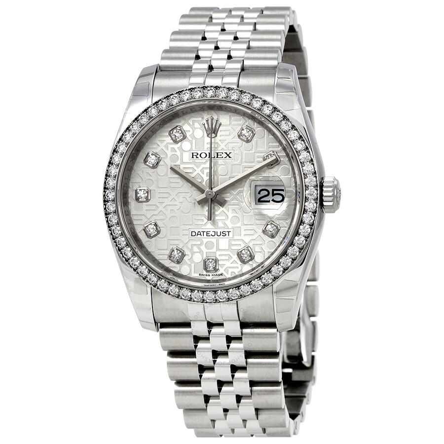 b0ff0ca1b6fe Rolex Oyster Perpetual Datejust 36 Silver Dial Stainless Steel Jubilee  Bracelet Automatic Men s Watch 116244SJDJ ...