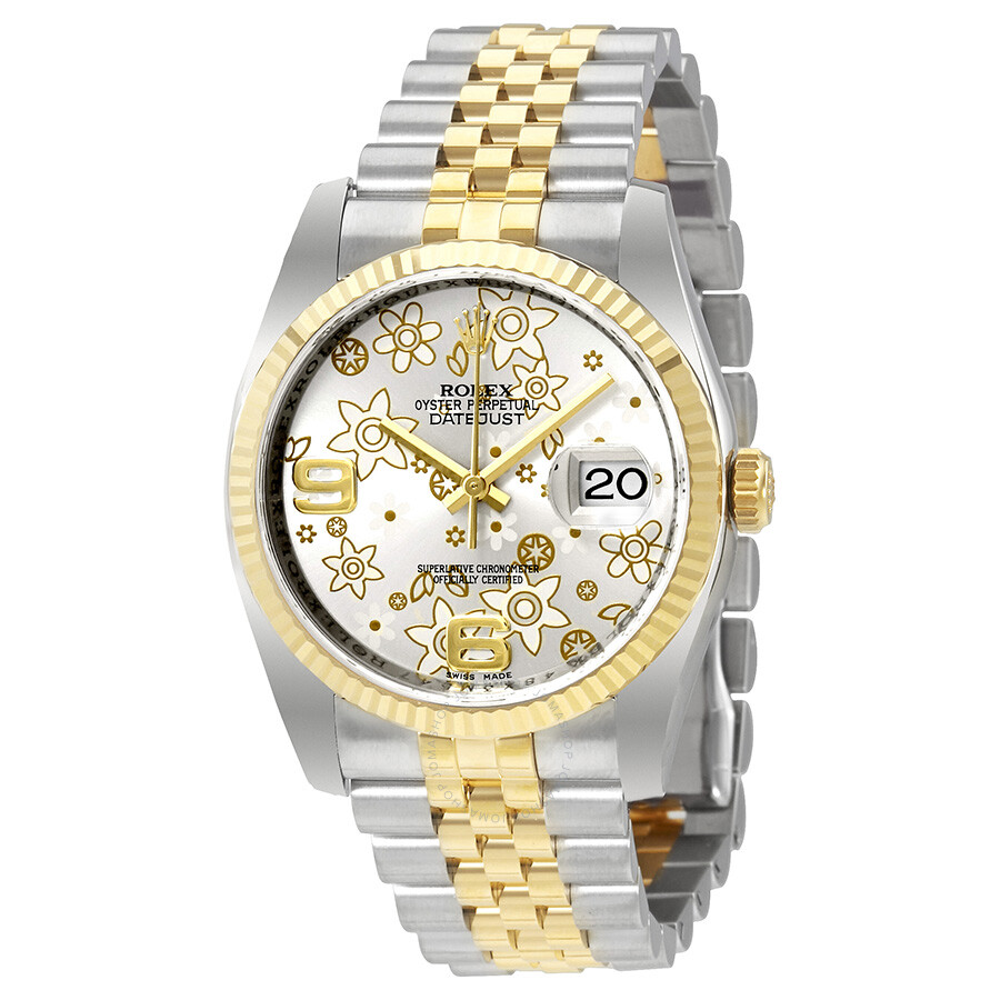 Rolex Oyster Perpetual Datejust Gold And Silver