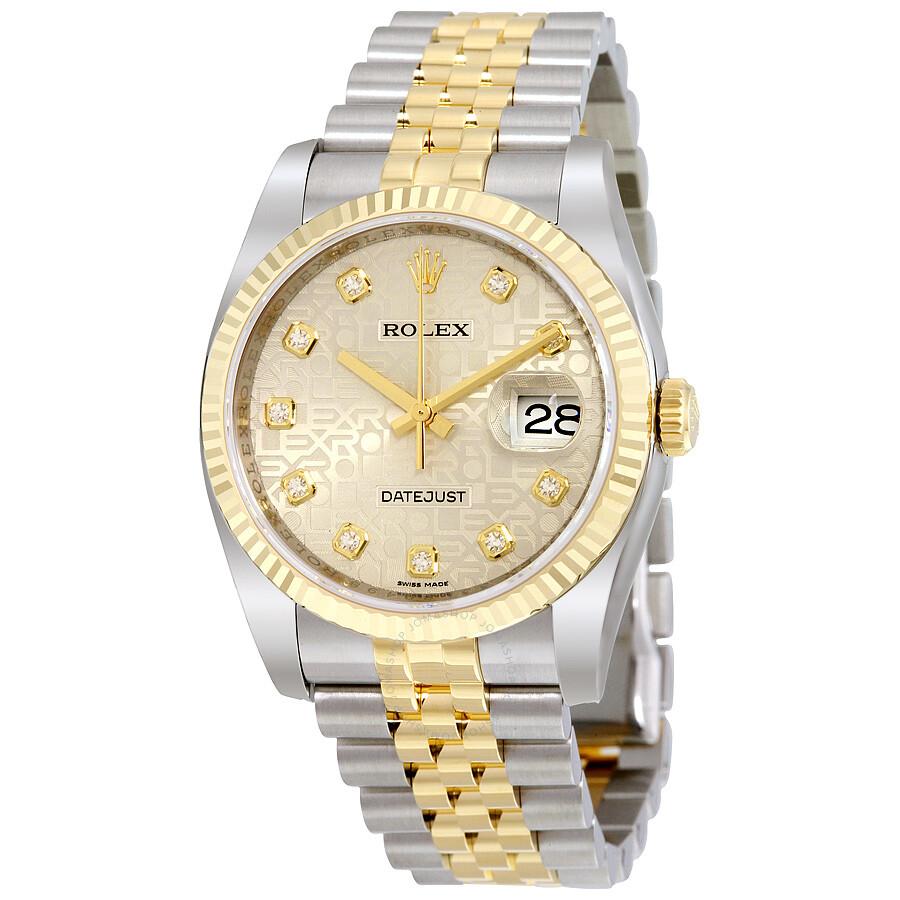 Rolex Datejust Silver Jubilee Diamond Dial Jubilee ...