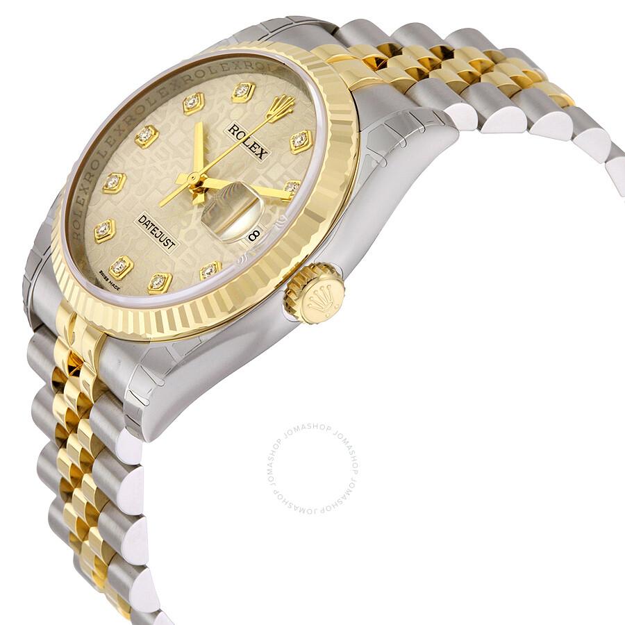 Rolex Datejust Silver Jubilee Diamond Dial Jubilee