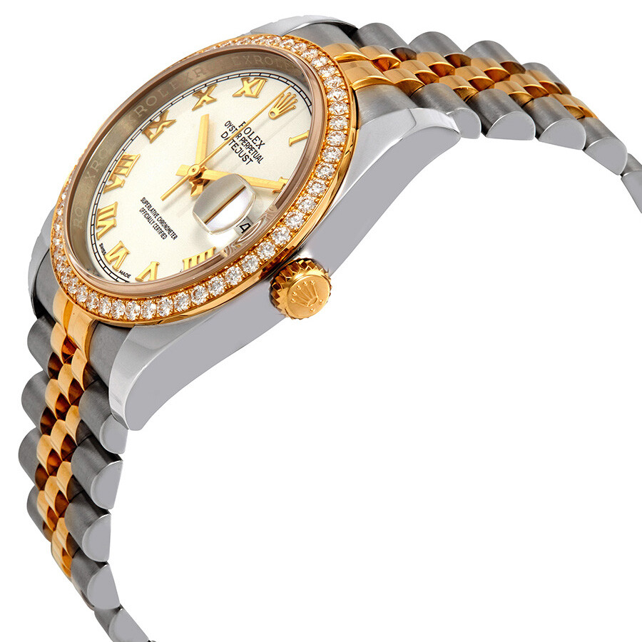 Oyster Perpetual Datejust 36 White Dial Stainless Steel and 18K Yellow Gold Jubilee Bracelet Automatic Ladies Watch 116243WRJ