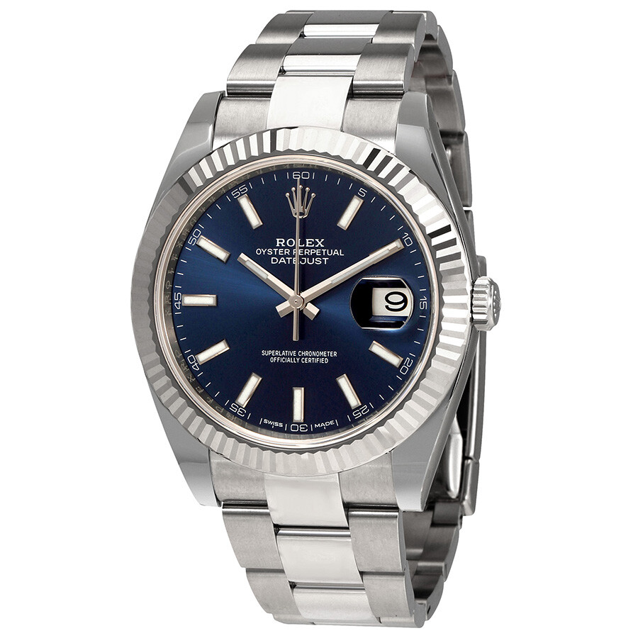 Rolex Oyster Perpetual Datejust 41 Blue Dial Automatic Men\u0027s Watch  126334BLSO