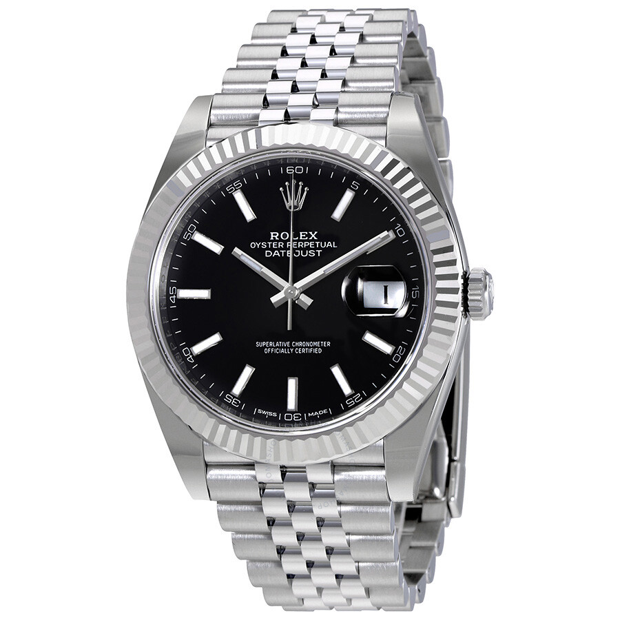 Rolex Oyster Perpetual Datejust Black Dial Jubilee Men S Watch 126334bksj