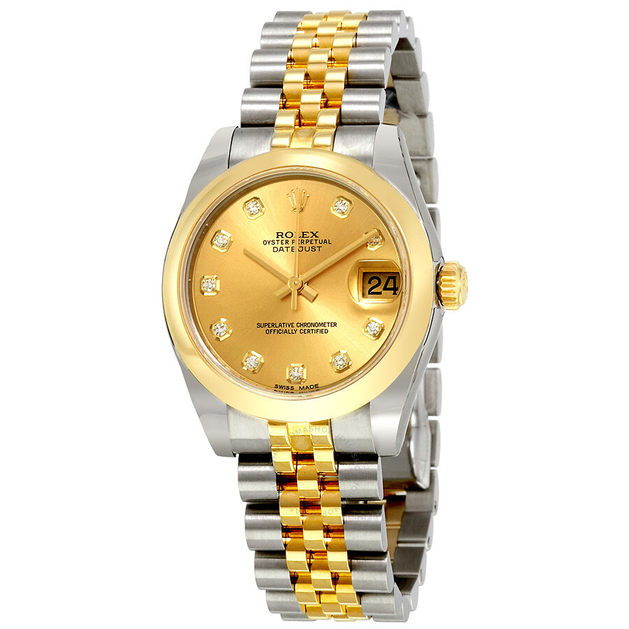 c7608303297 Rolex Oyster Perpetual Datejust Champagne Dial Automatic Stainless Steel  and 18 Carat Yellow Gold Watch 178243CDJ ...