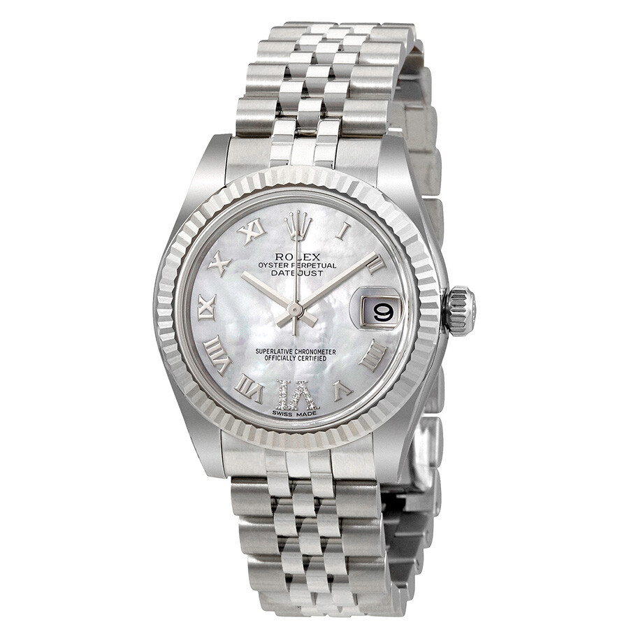 rolex oyster perpetual datejust mother of pearl dial automatic ladies watch 178274mrdj oyster. Black Bedroom Furniture Sets. Home Design Ideas