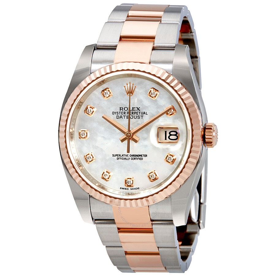 Rolex Oyster Perpetual Datejust Mother of Pearl Diamond Men s Watch  116231MDO ... c85e83f05c12