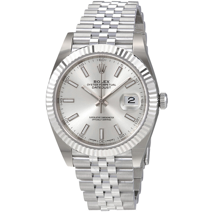 rolex oyster perpetual datejust silver dial automatic men 39 s watch 126334ssj oyster perpetual. Black Bedroom Furniture Sets. Home Design Ideas