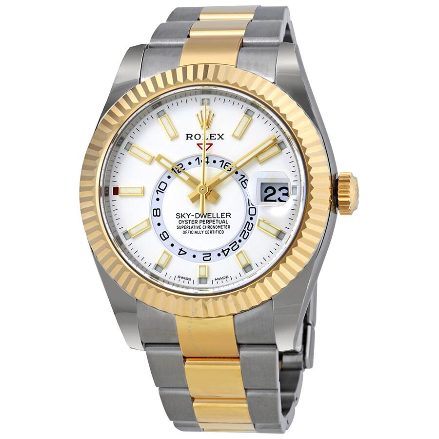 Rolex Oyster Perpetual Sky,Dweller Automatic Men\u0027s Two,tone Watch 326933WSO