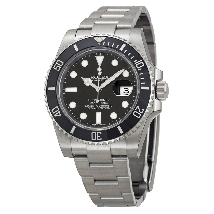 rolex oyster perpetual submariner black dial black cerachrom bezel rolex oyster perpetual submariner black dial black cerachrom bezel steel men s watch 116610ln