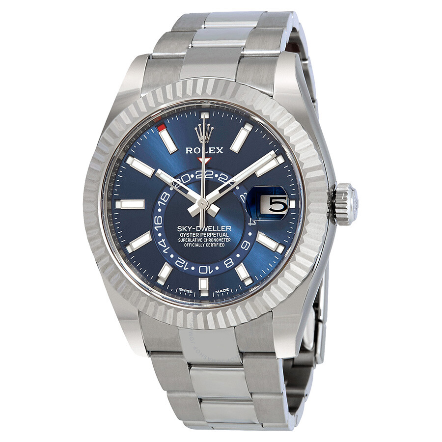 Rolex Sky,Dweller Blue Dial Automatic Men\u0027s Oyster Watch 326934BLSO