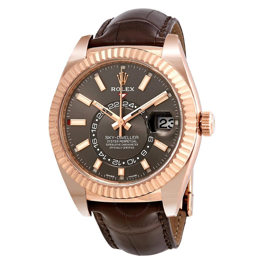 Rolex Sky,Dweller Dark Rhodium Dial Automatic Men\u0027s Watch 326135RSL