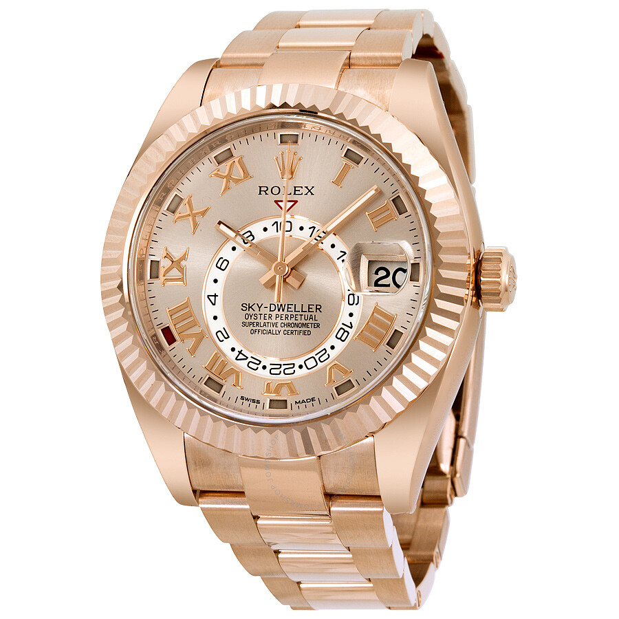 e08db99fdc9d1 Rolex Sky Dweller Sundust Dial 18kt Everose Gold Men s Watch