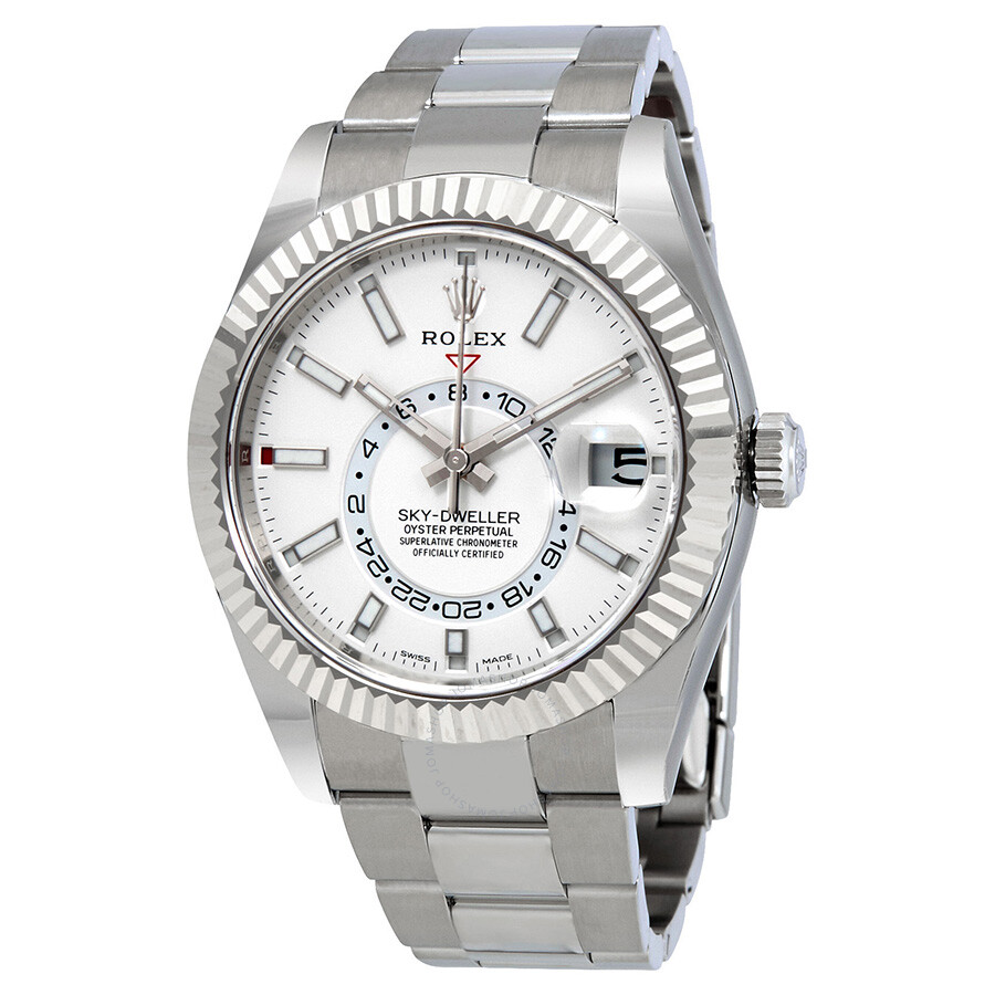 08deb56ac70 Rolex Sky-Dweller White Dial Automatic Men s Oyster Watch 326934WSO ...