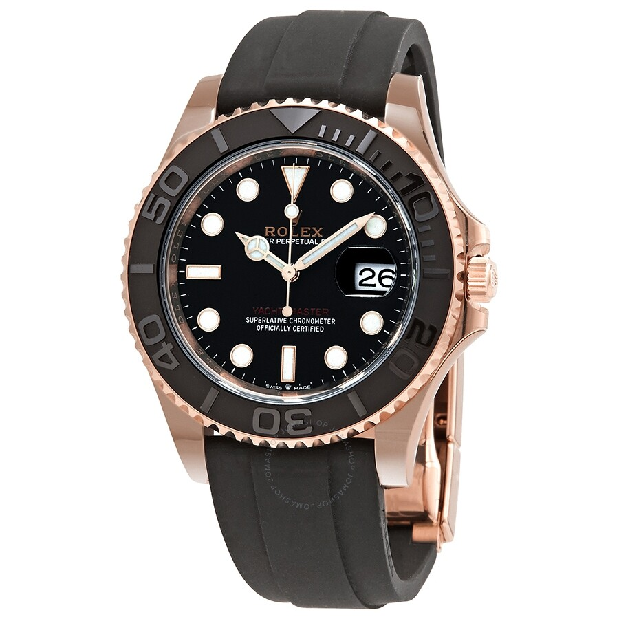 Rolex Yacht,Master 40 Men\u0027s 18kt Everose Gold Oysterflex Watch 126655,000