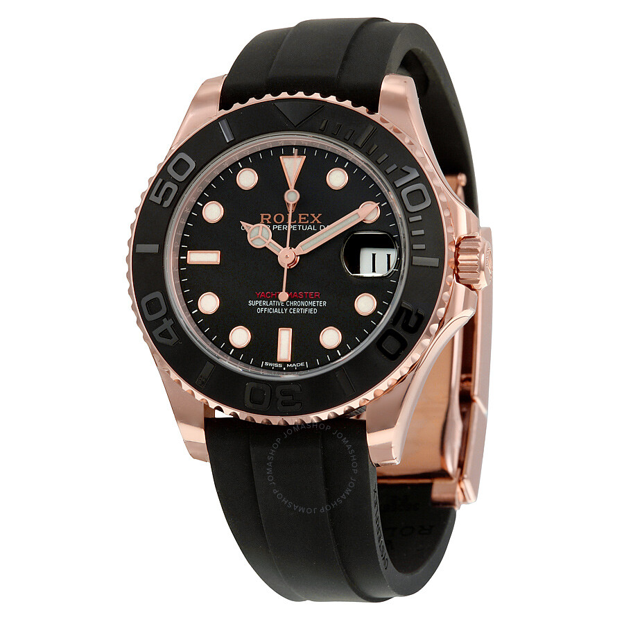 Rolex Yachtmaster Rose Gold Rubber