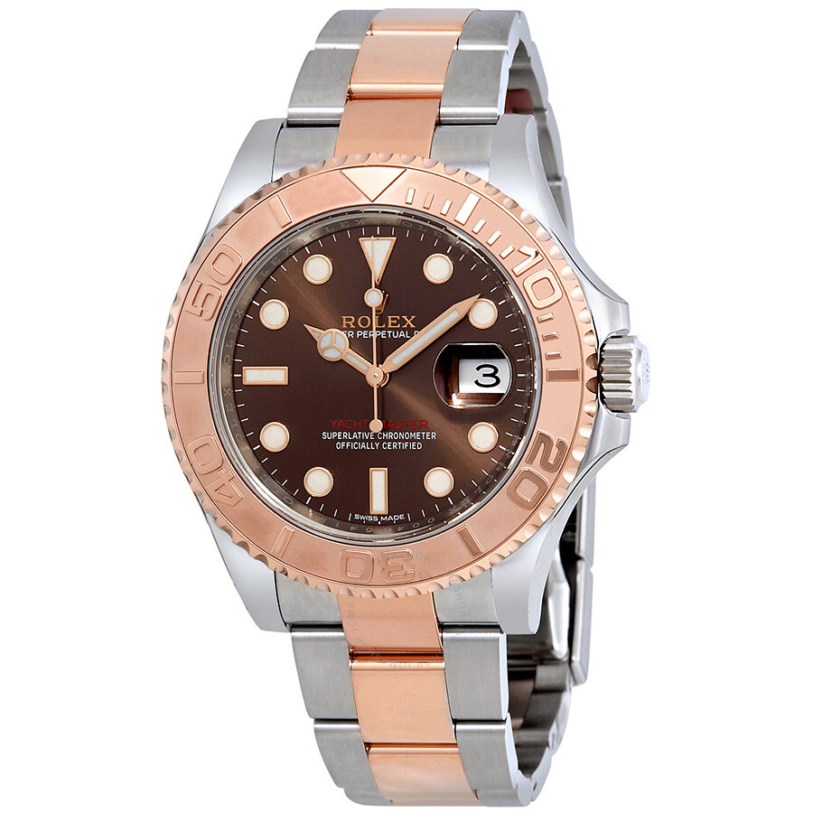 a77be73b9ae Rolex Yacht-Master Chocolate Dial Steel and 18K Everose Gold Oyster Men s  Watch 116621CHSO ...