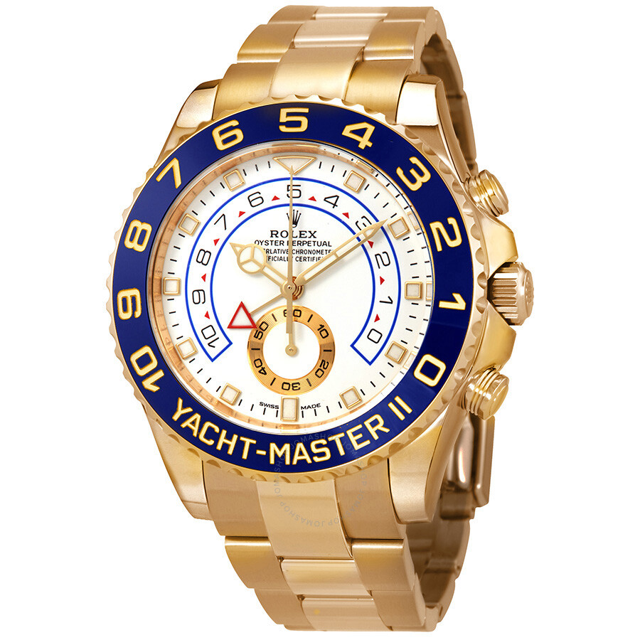 3e52e4544e8 Rolex Yacht-Master II Automatic White Dial Men s 18kt Yellow Gold Oyster  Watch 116688- ...
